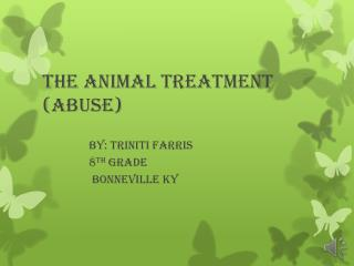 The animal treatment (abuse)