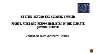 Christopher Shaw, University of Oxford