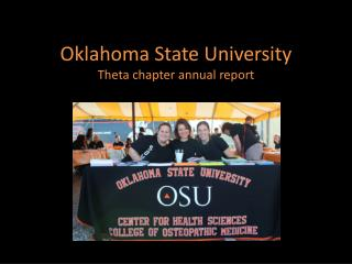 Oklahoma State University Theta chapter annual report