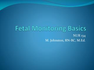 Fetal Monitoring Basics