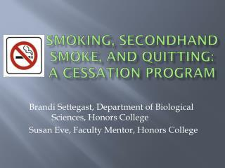 Smoking, Secondhand Smoke, and Quitting: A Cessation Program
