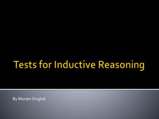Tests for Inductive Reasoning