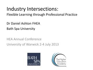 Industry Intersections: Flexible Learning through Professional Practice