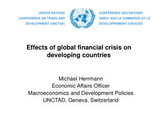 Effects of global financial crisis on developing countries
