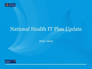 National Health IT Plan Update