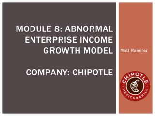Module 8: abnormal enterprise income growth model Company: chipotle