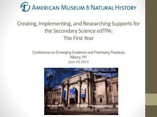 American Museum of Natural History  Masters  of Arts in Teaching Program