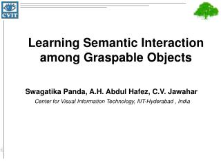 Learning Semantic Interaction among Graspable Objects