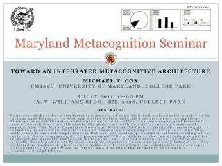 Maryland Metacognition Seminar
