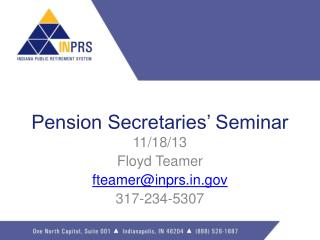 Pension  Secretaries'  Seminar