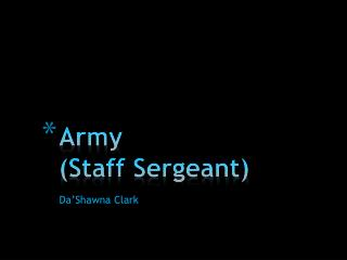 Army (Staff Sergeant)
