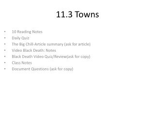11.3 Towns