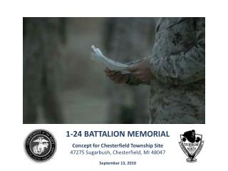 1-24  BATTALION MEMORIAL Concept for Chesterfield Township Site