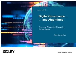 Digital Governance … … and Algorithms