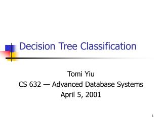 Decision Tree Classification