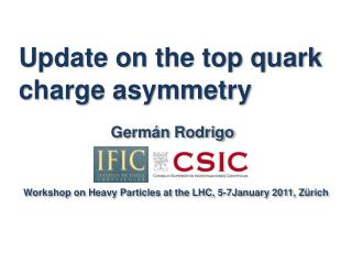 Update on the top quark charge asymmetry