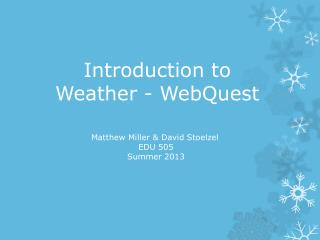 Introduction to Weather - WebQuest