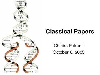 Classical Papers