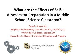 What are the Effects of Self-Assessment Preparation in a Middle School Science Classroom?