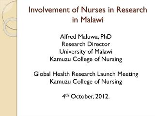 Involvement of Nurses in Research in Malawi