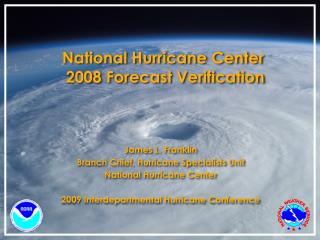 National Hurricane Center  2008 Forecast Verification