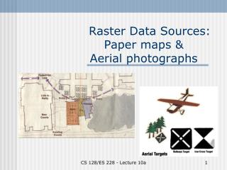 Raster Data Sources: Paper maps &  Aerial photographs