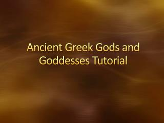 Ancient Greek Gods and Goddesses Tutorial