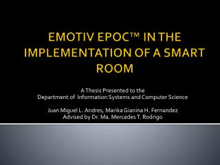 EMOTIV EPOC  IN THE IMPLEMENTATION OF A SMART ROOM