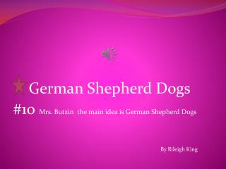 German Shepherd Dogs  #10  Mrs. Butzin  the main idea is German Shepherd Dogs