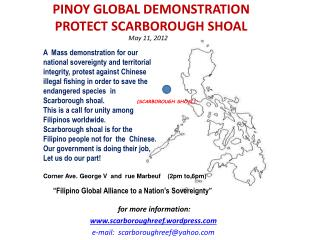 PINOY  GLOBAL DEMONSTRATION    PROTECT SCARBOROUGH SHOAL