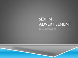 Sex In advertisement