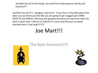 Joe Mart!!!