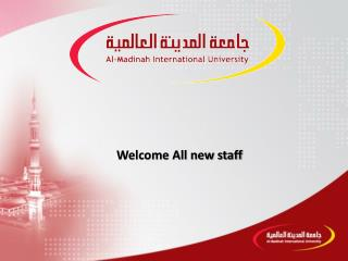 Welcome All new staff