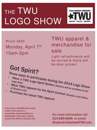 The TWU  Logo Show