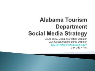Alabama Tourism Department Social Media Strategy