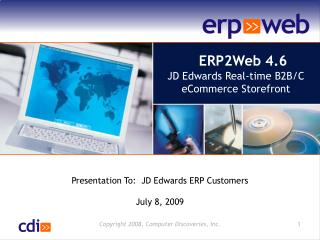 ERP2Web 4.6 JD Edwards Real-time B2B/C eCommerce Storefront
