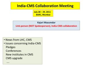 India-CMS Collaboration Meeting