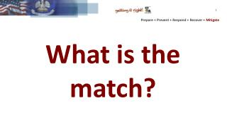 What is the match?
