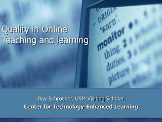 Quality in Online Education