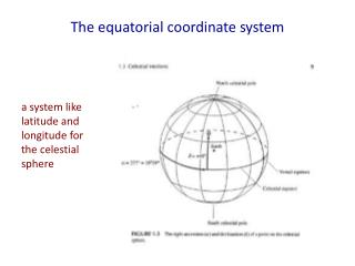 The equatorial coordinate system