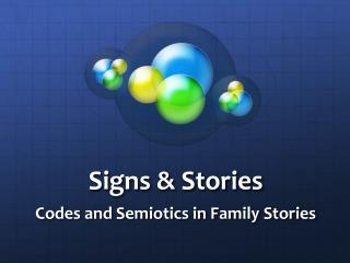 Signs & Stories
