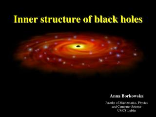 Inner structure  of  black holes