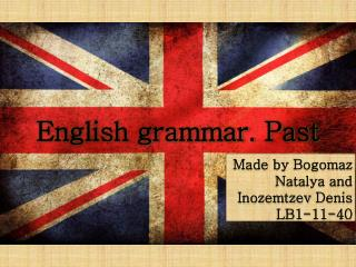 English grammar. Past