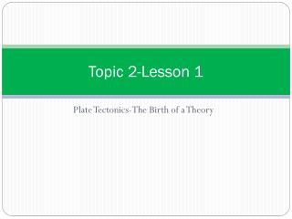 Topic 2-Lesson 1