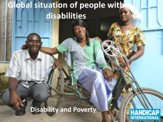 Global situation of people  with disabilities