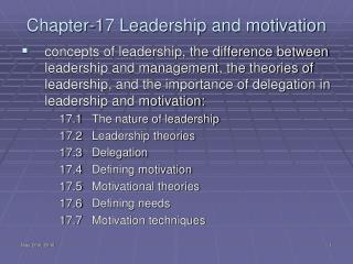 Chapter-17 Leadership and motivation