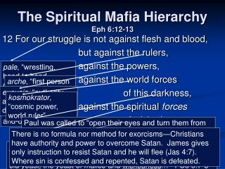 The Spiritual Mafia Hierarchy  Eph 6:12-13