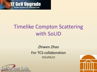 Timelike  Compton Scattering with  SoLID