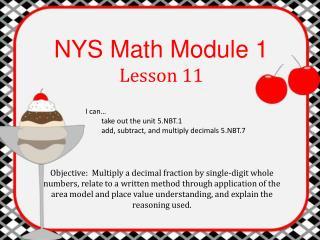 NYS Math Module 1 Lesson 11