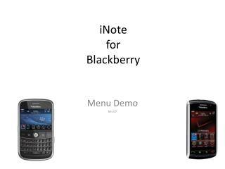 iNote for Blackberry